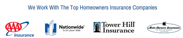 We work with the Top Florida Homeowners Insurance Companies like AAA, Nationwide, Progressive, & Tower Hill